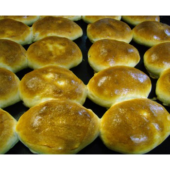 Пироги печёные с рисом и мясом